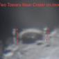 Астроном  откри на Луната кули на ръба на кратер (видео)