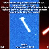 """Огромни извънземни кораби """"събират"""" енергия до Слънцето (видео)"""