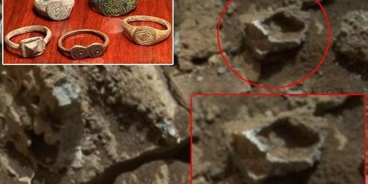 Още странни находки на Марс – златен пръстен и катастрофирал извънземен кораб (видео)