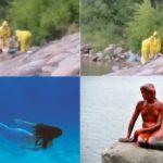 Русалките съществуват? От езеро в Минесота извадиха странно същество (видео)