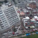 Последствията от силното земетресение в Тайван (видео)