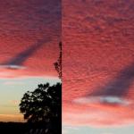 Какво или кой предизвика тази аномалия в облаците над Аризона???