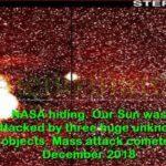 Слънцето бе  атакувано от три неизвестни обекта! (видео)