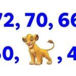 Само най-интелигентните ще решат тази задача: Кое число  трябва да стои  в редицата вместо Симба?