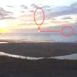"""Високоскоростен НЛО спира във въздуха и след това се """"изстрелва"""" в небето (видео)"""