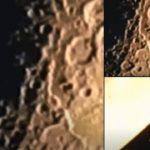 Голям светещ НЛО прелетя близо до Луната (видео)